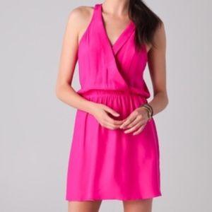 Parker pink silk tank top dress